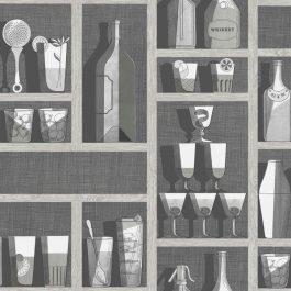 Обои Cole&Son Коллекция Fornasetti Senza Tempo дизайн Cocktails арт. 114/23045