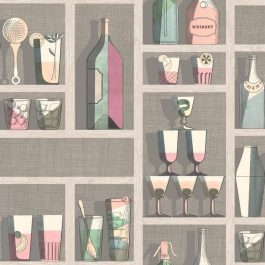 Обои Cole&Son Коллекция Fornasetti Senza Tempo дизайн Cocktails арт. 114/23044