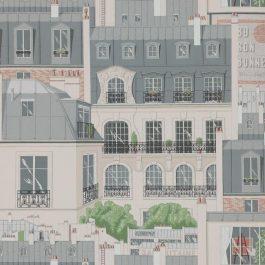 Обои Manuel Canovas Коллекция Papiers Peints Vol 5 & 6 дизайн Les Toits de Paris арт. 03082/02