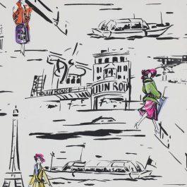 Обои Manuel Canovas Коллекция Papiers Peints Vol 5 & 6 дизайн La Parisienne арт. 03083/01